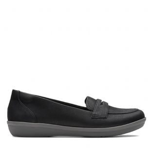Clarks Ayla Form Black Womens Shoes